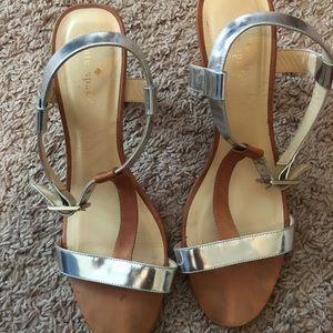 Kate Spade brown and silver heels